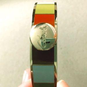 COACH Silver and Multi-Colored Bangle